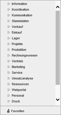 Anwendungsmenü und Favoriten 0