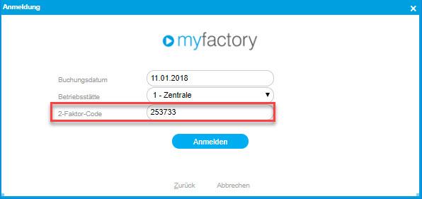Sicherheit: So nutzen Sie die Zwei-Faktor-Authentifizierung in der myfactory 12