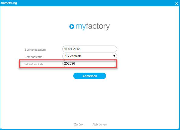 Sicherheit: So nutzen Sie die Zwei-Faktor-Authentifizierung in der myfactory 9