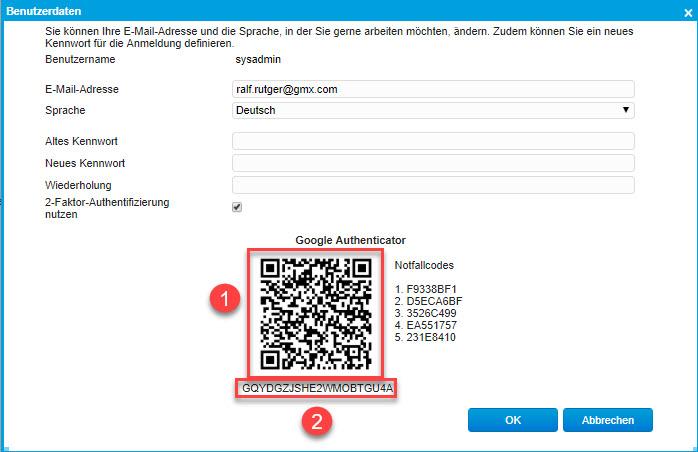 Sicherheit: So nutzen Sie die Zwei-Faktor-Authentifizierung in der myfactory 7