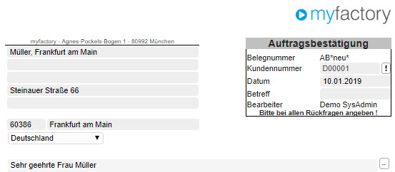 Register Belegverarbeitung 1