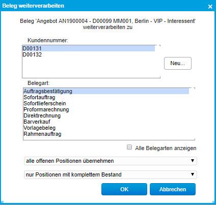 Register Belegverarbeitung 5