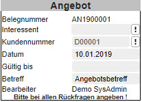 Register Belegverarbeitung 3