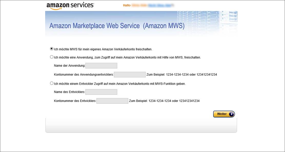 Amazon Registrierung 2