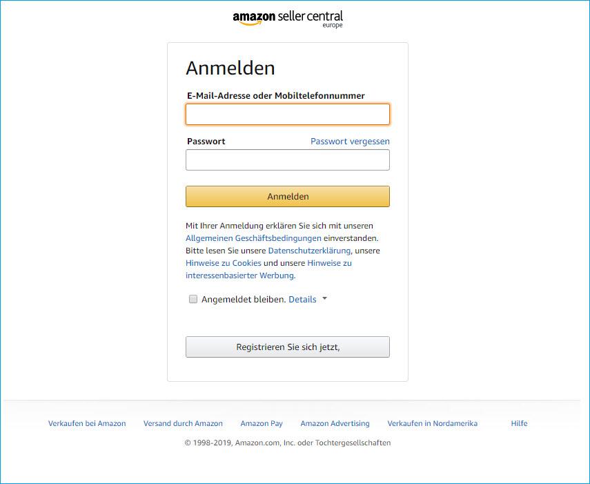 Amazon Registrierung 1