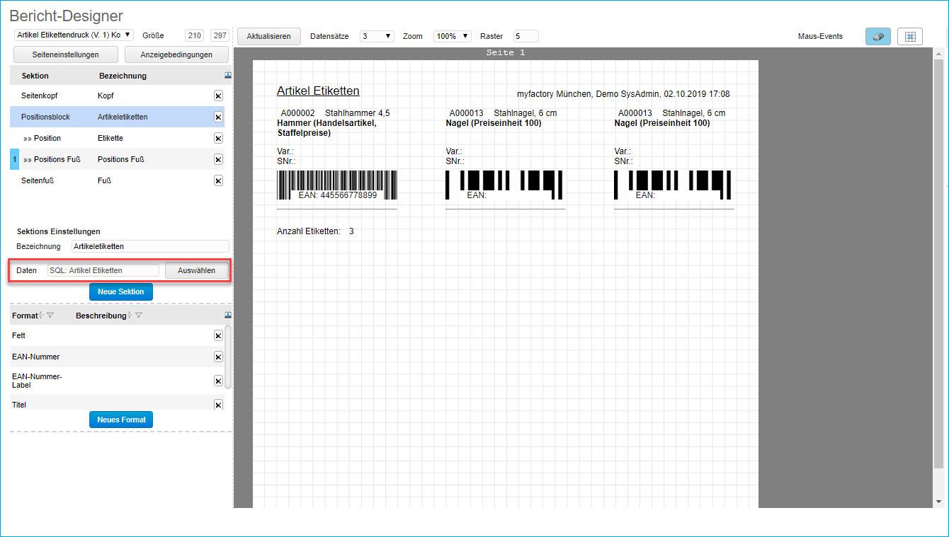 So erstellen Sie Ihre eigene Druckvariante für den Artikel-Etikettendruck 2