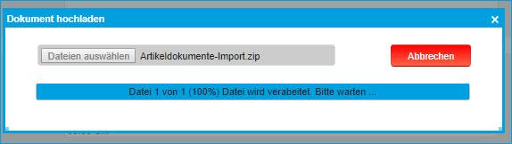 Artikel Dokumente importieren 1