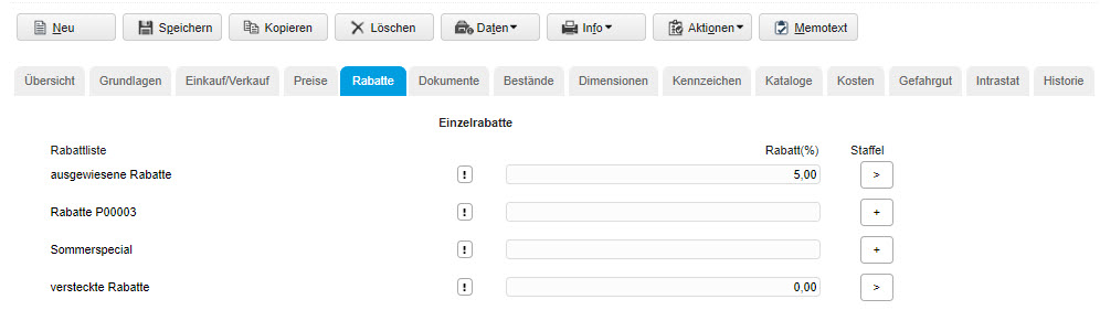 Register Rabatte 0