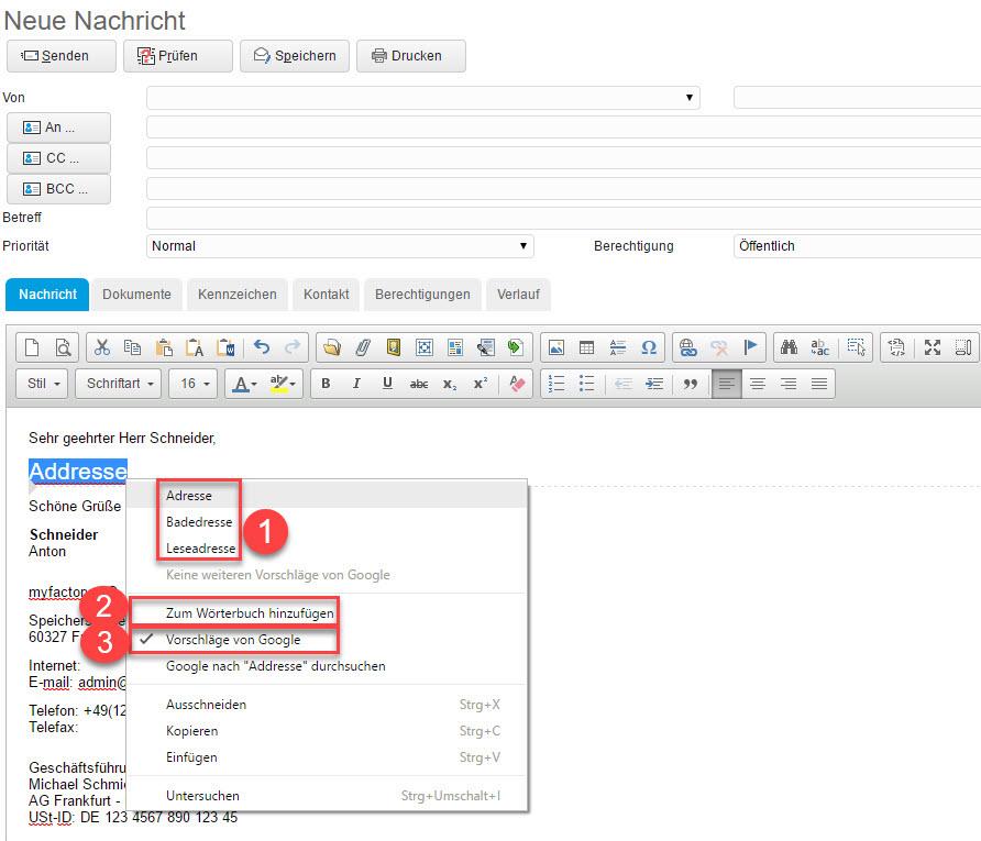 Rechtschreibkorrektur aktivieren und konfigurieren 3