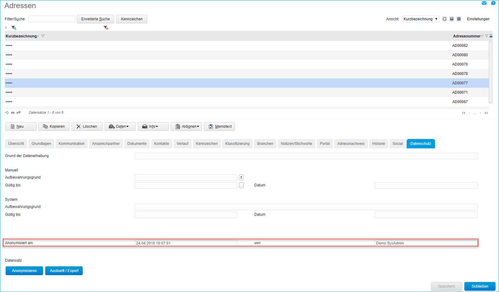 Register Datenschutz 3