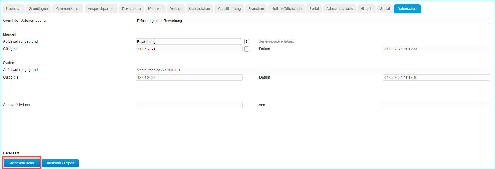 Register Datenschutz 2