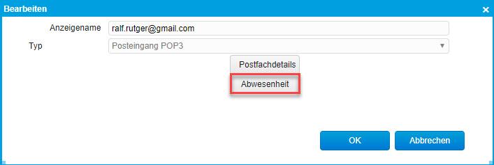 E-Mail Abwesenheit 0