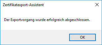 E-Mail-Zertifikat installieren und konfigurieren (mit Internet Explorer und Chrome) 10