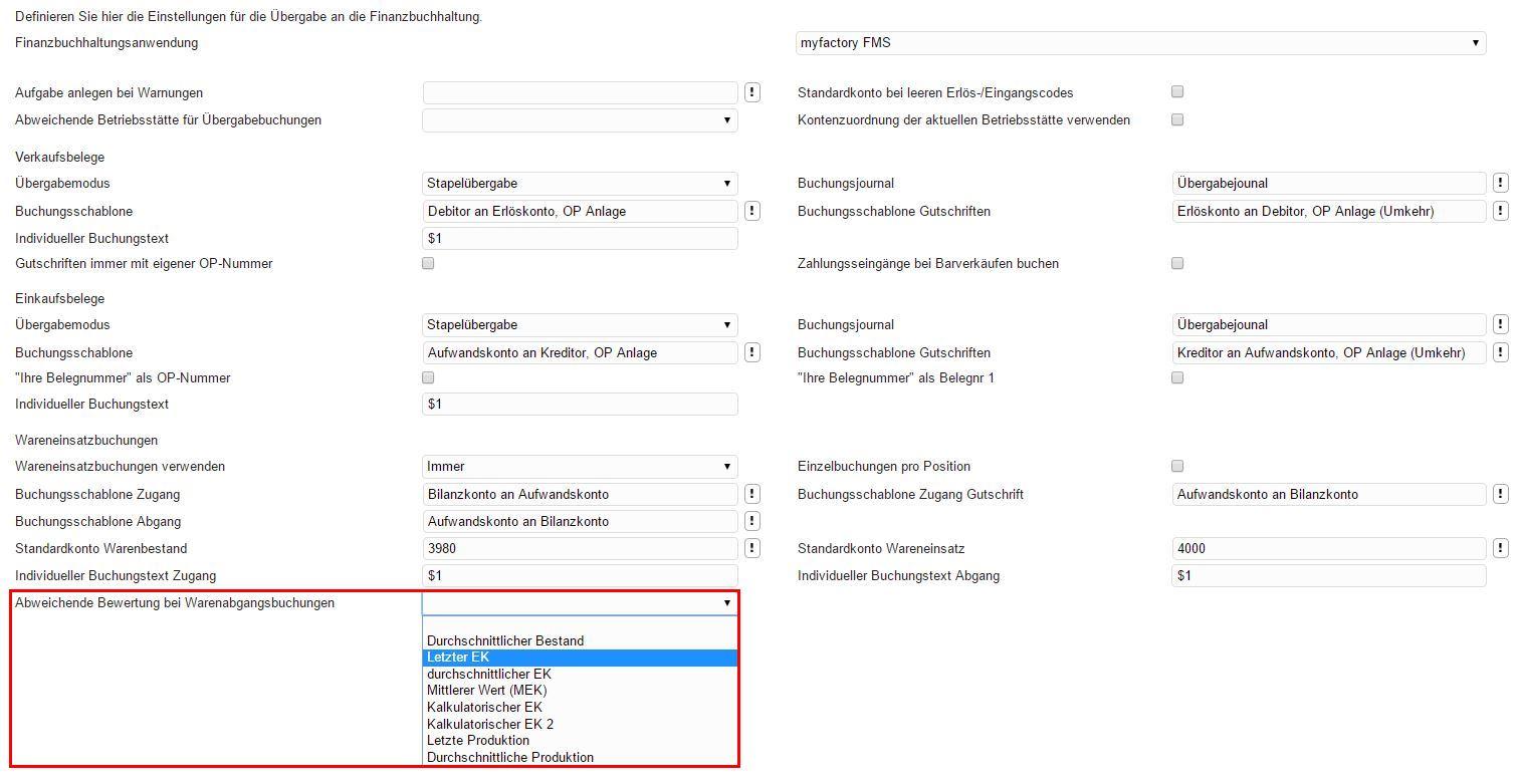 Konfiguration myfactory.FMS 1