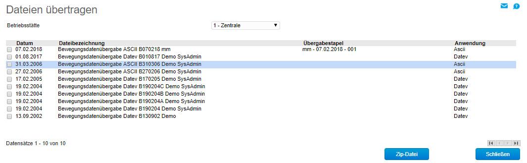Dateien übertragen 0
