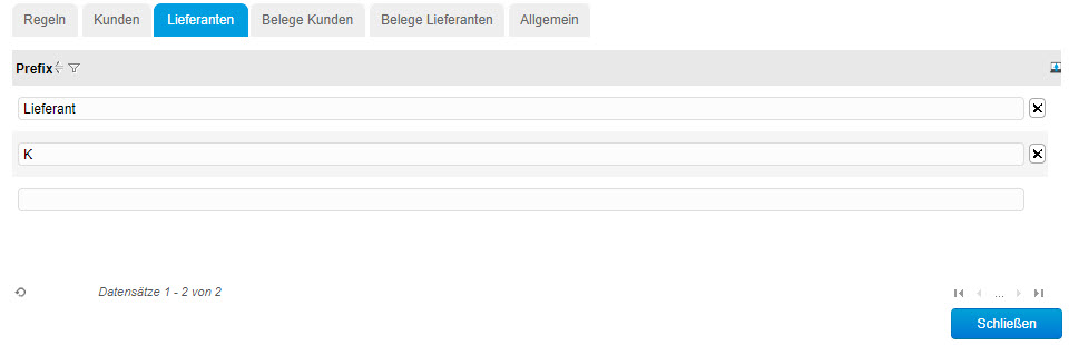 Register Lieferanten 0