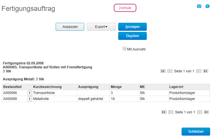 myfactory Online-Hilfe