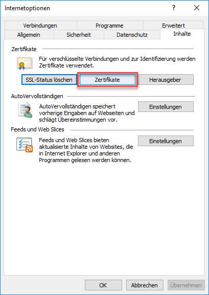 E-Mail-Zertifikat installieren und konfigurieren (mit Internet Explorer und Chrome) 4