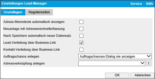 Lead-Verteilung über Business-Link 0