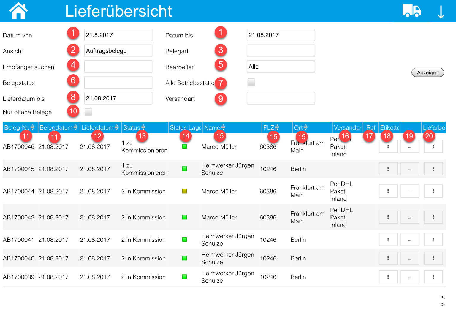 iPad/Tablet: Kommissionierungsaufträge 4