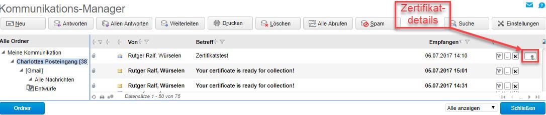 Zertifikate verwalten 5