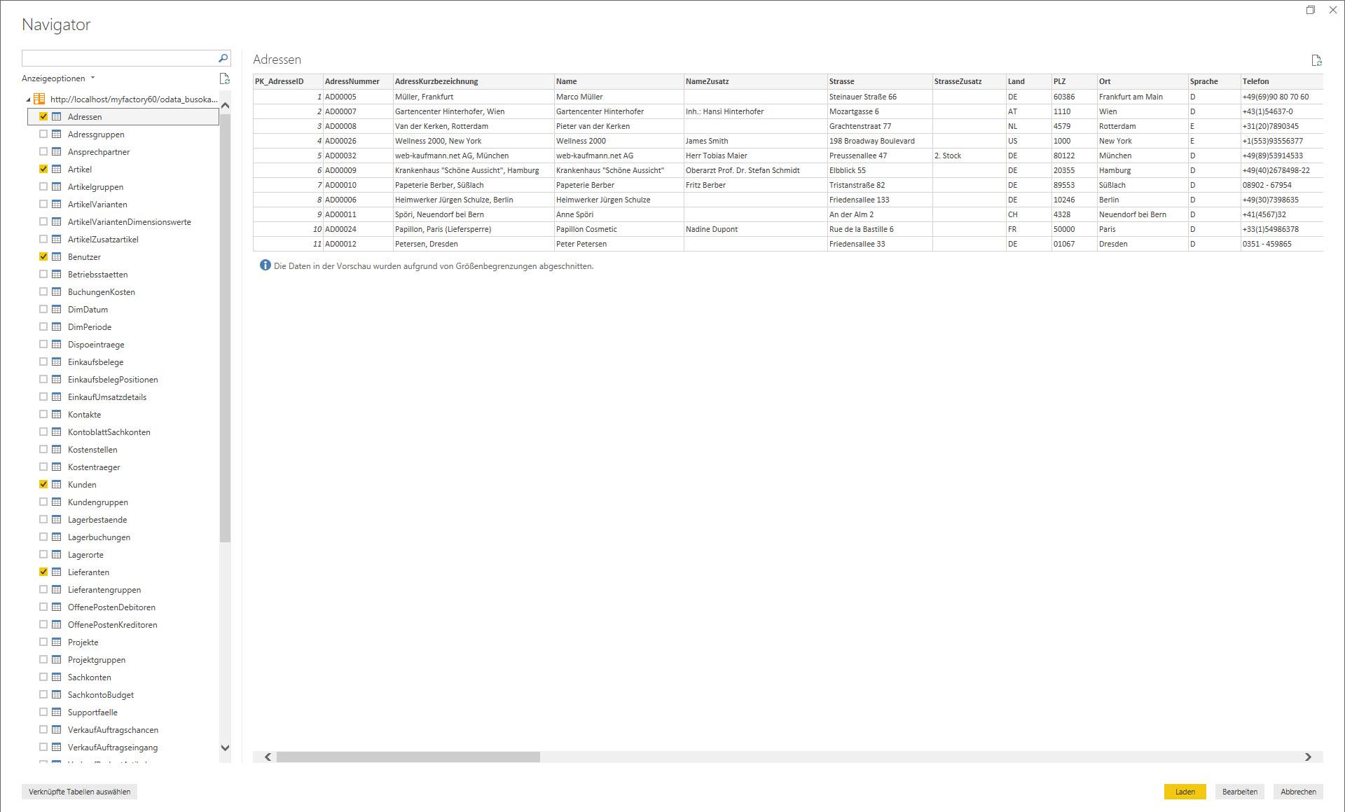 myfactory als Datenquelle: Die REST API für die Microsoft PowerBI-Auswertung nutzen 6