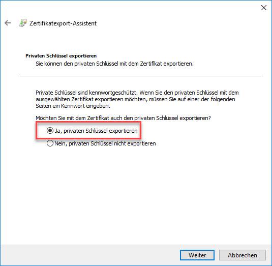 E-Mail-Zertifikat installieren und konfigurieren (mit Internet Explorer und Chrome) 6