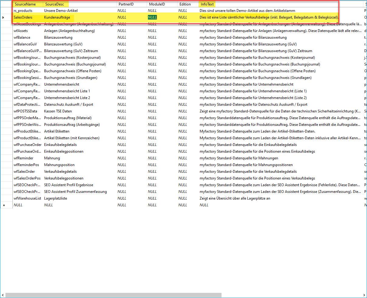Eigene SQL-Datenquelle erstellen 1