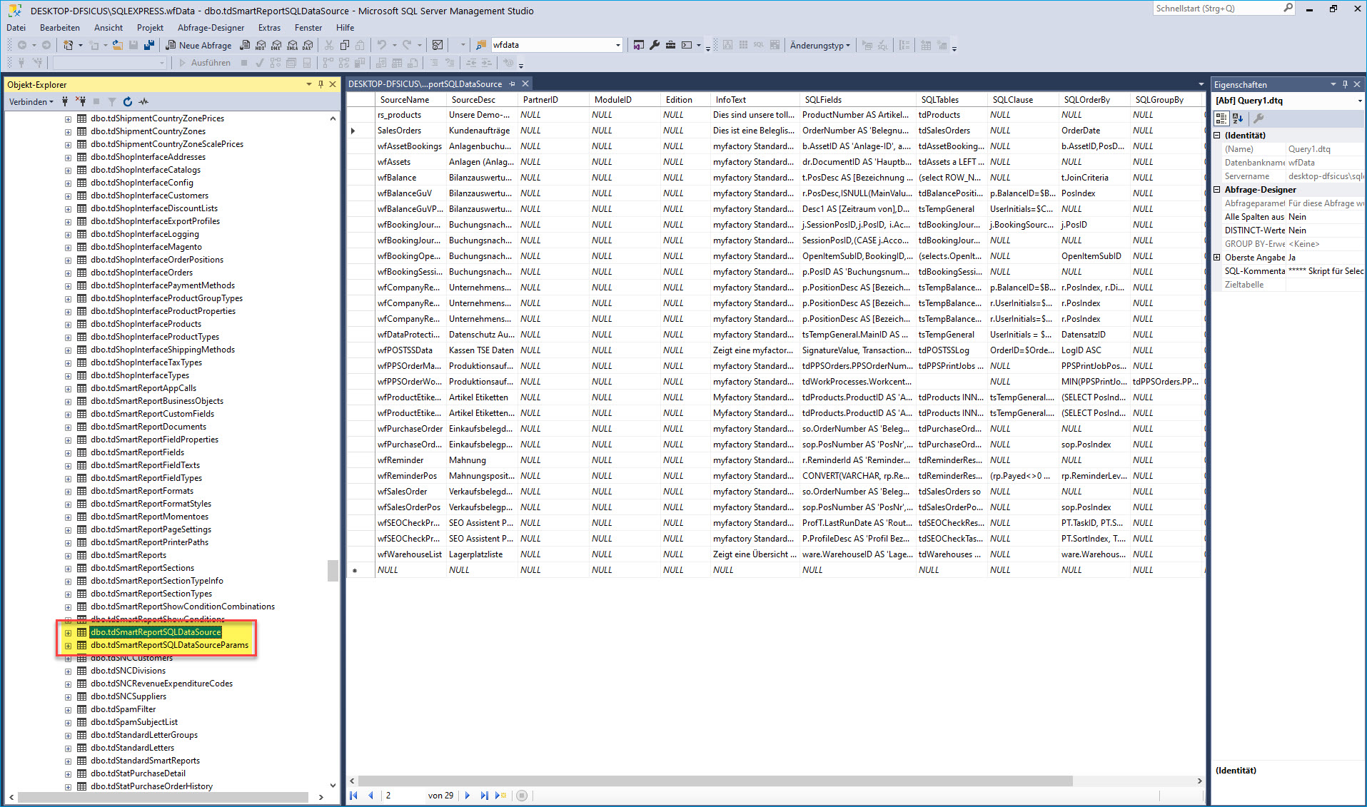 Eigene SQL-Datenquelle erstellen 0