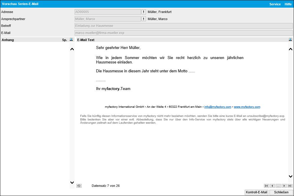 Serien-E-Mails 1