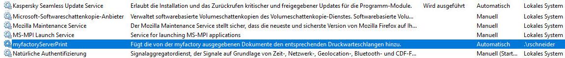 Serverdruck-Dienst 2