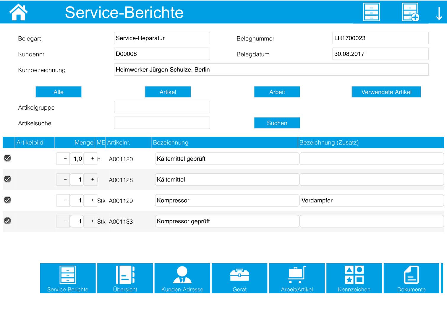 Service-Berichte 14