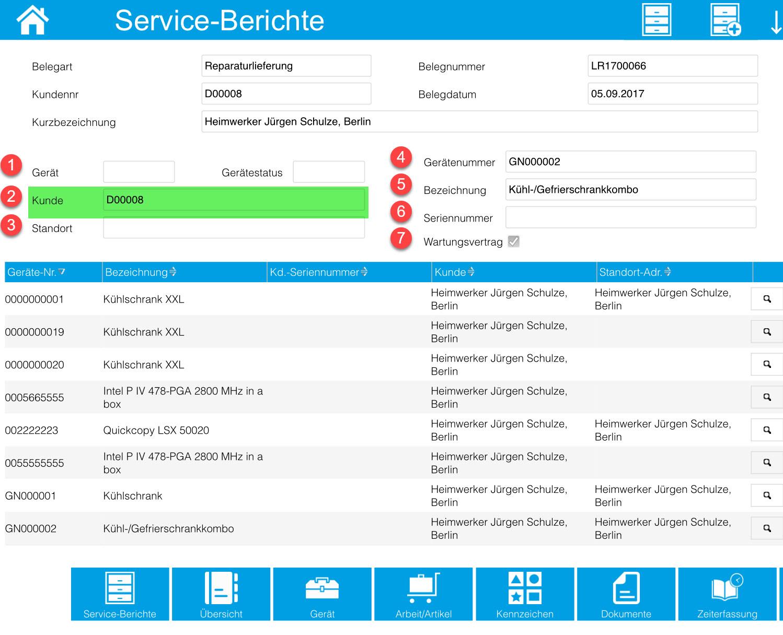 Service-Berichte 10