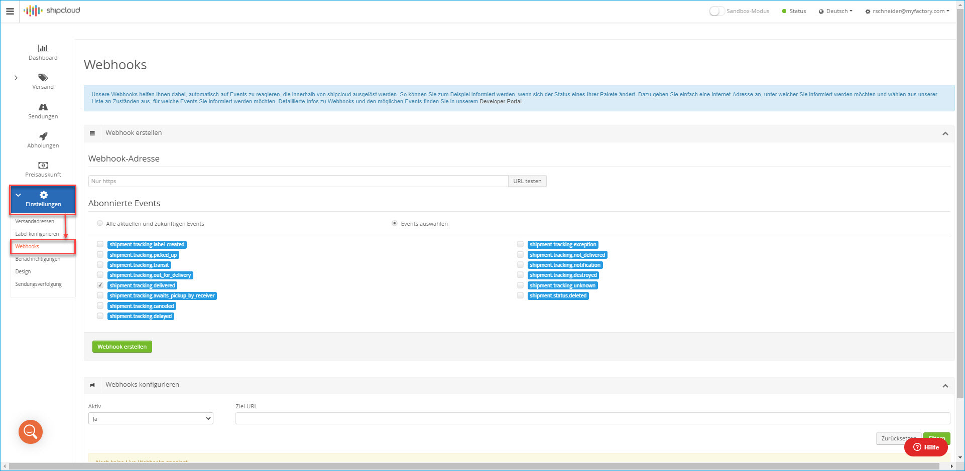 Shipcloud-API 4
