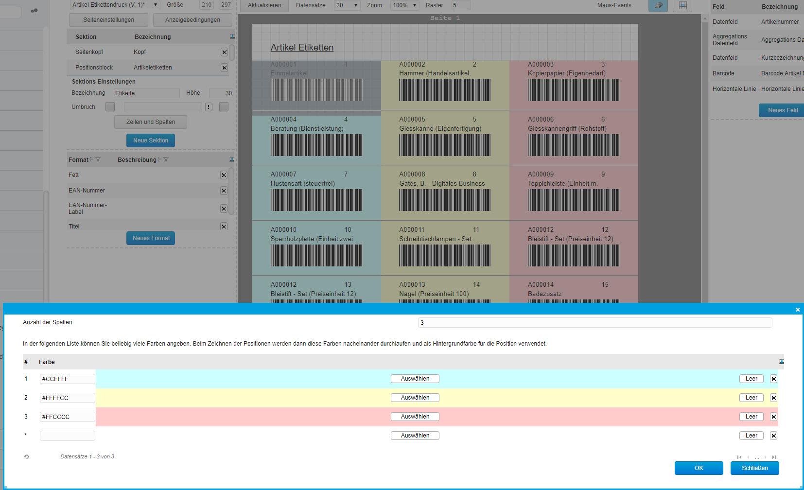 Grundsätzlicher Aufbau der Smart Reports und des Bericht-Designers 10