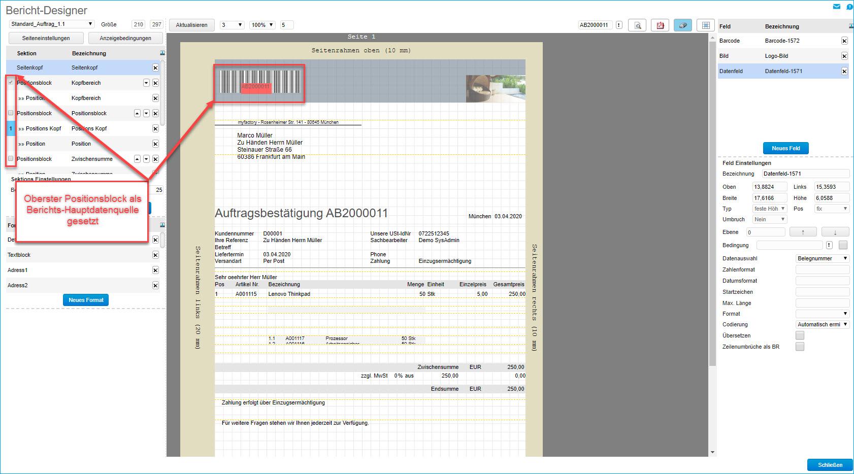 Grundsätzlicher Aufbau der Smart Reports und des Bericht-Designers 19