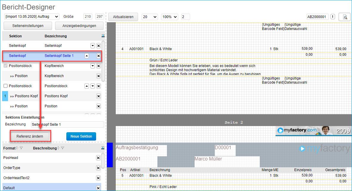Grundsätzlicher Aufbau der Smart Reports und des Bericht-Designers 8