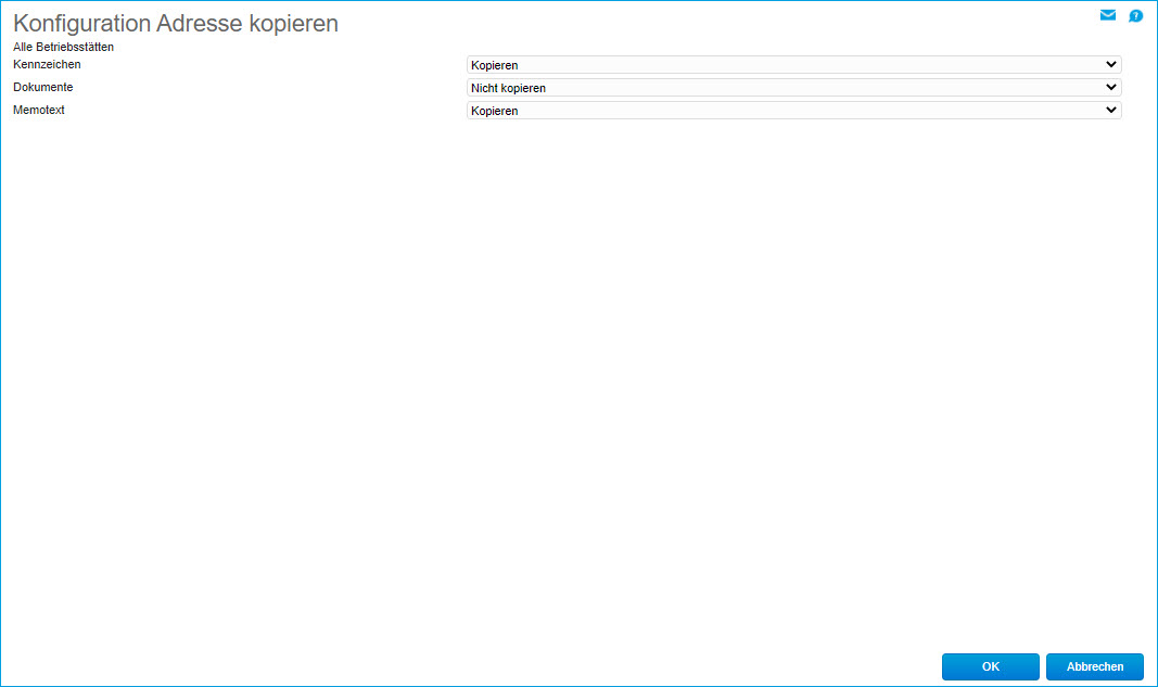 Konfiguration Adresse kopieren 0
