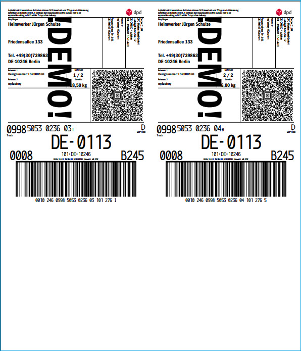 Verpackungstypen und Verpackungsdialog 9