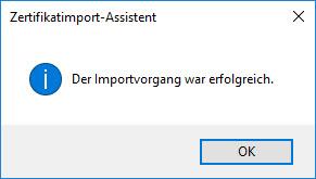 E-Mail-Zertifikat installieren und konfigurieren (mit Internet Explorer und Chrome) 3