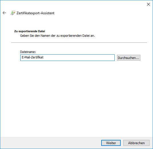 E-Mail-Zertifikat installieren und konfigurieren (mit Internet Explorer und Chrome) 9