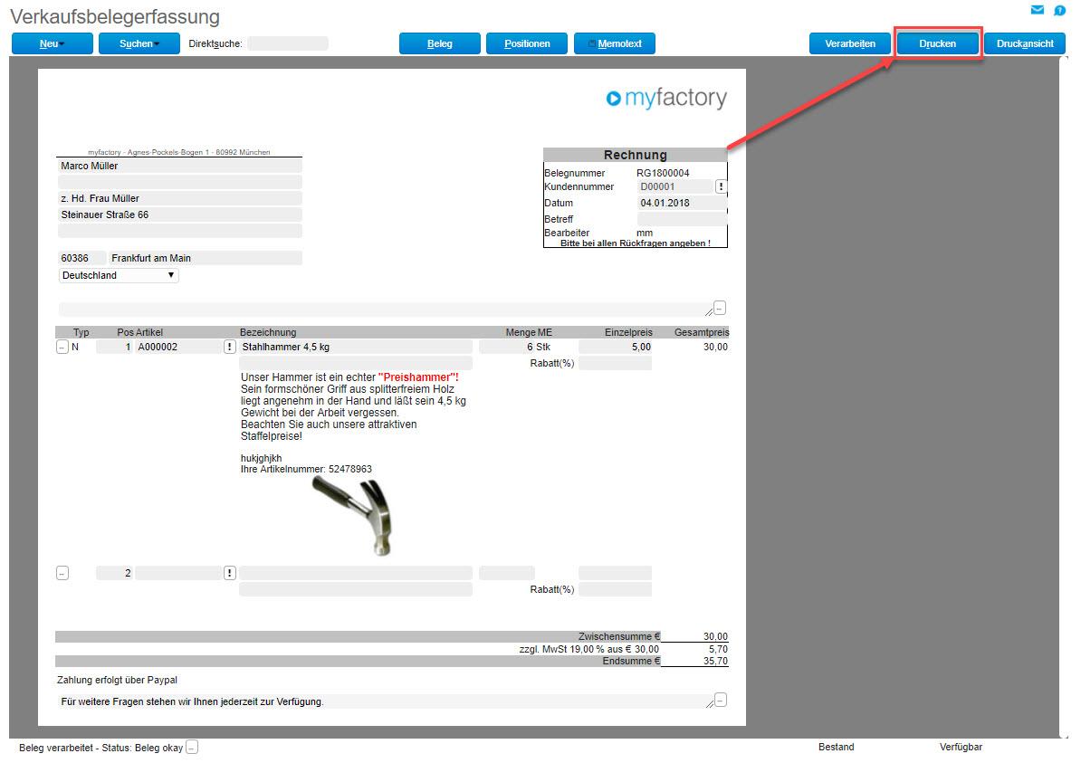 myfactory und ZUGFeRD: Automatisierter Austausch elektronischer Rechnungen 1