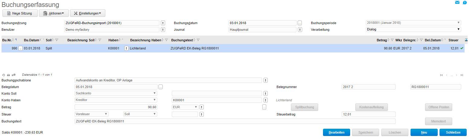 myfactory und ZUGFeRD: Automatisierter Austausch elektronischer Rechnungen 14