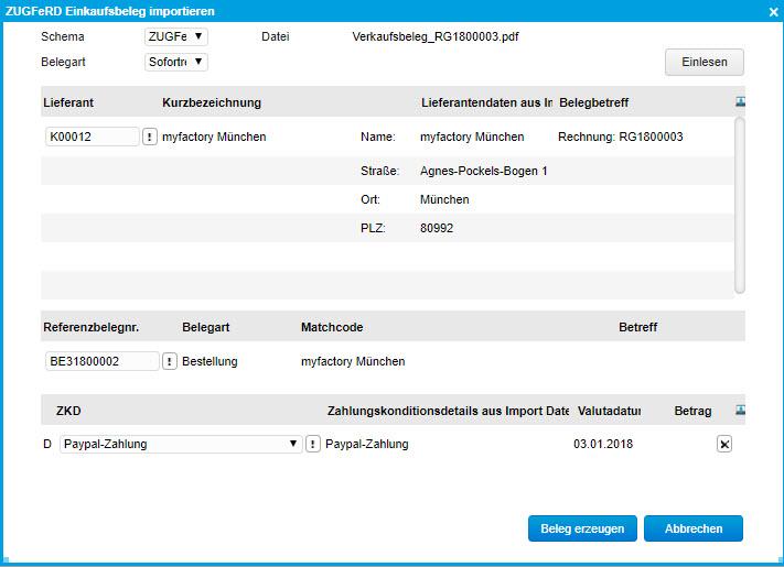myfactory und ZUGFeRD: Automatisierter Austausch elektronischer Rechnungen 10