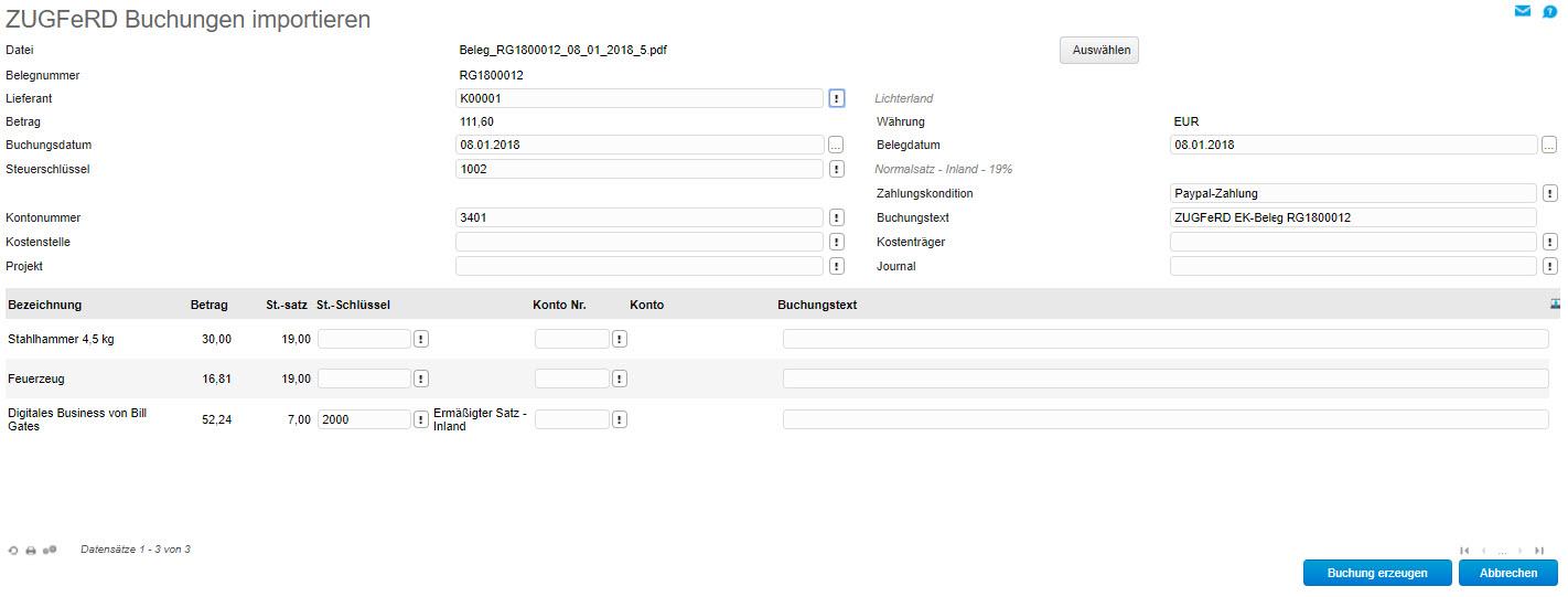 myfactory und ZUGFeRD: Automatisierter Austausch elektronischer Rechnungen 13