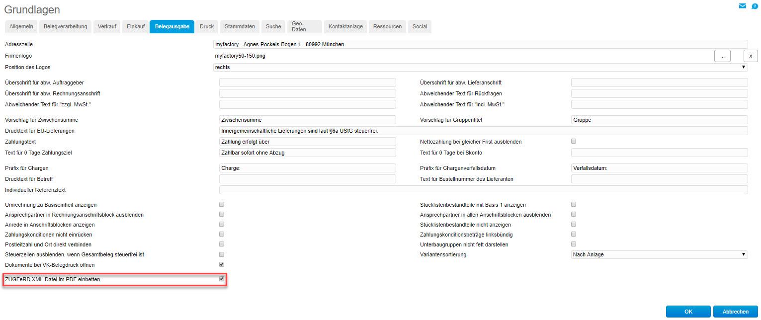 myfactory und ZUGFeRD: Automatisierter Austausch elektronischer Rechnungen 0