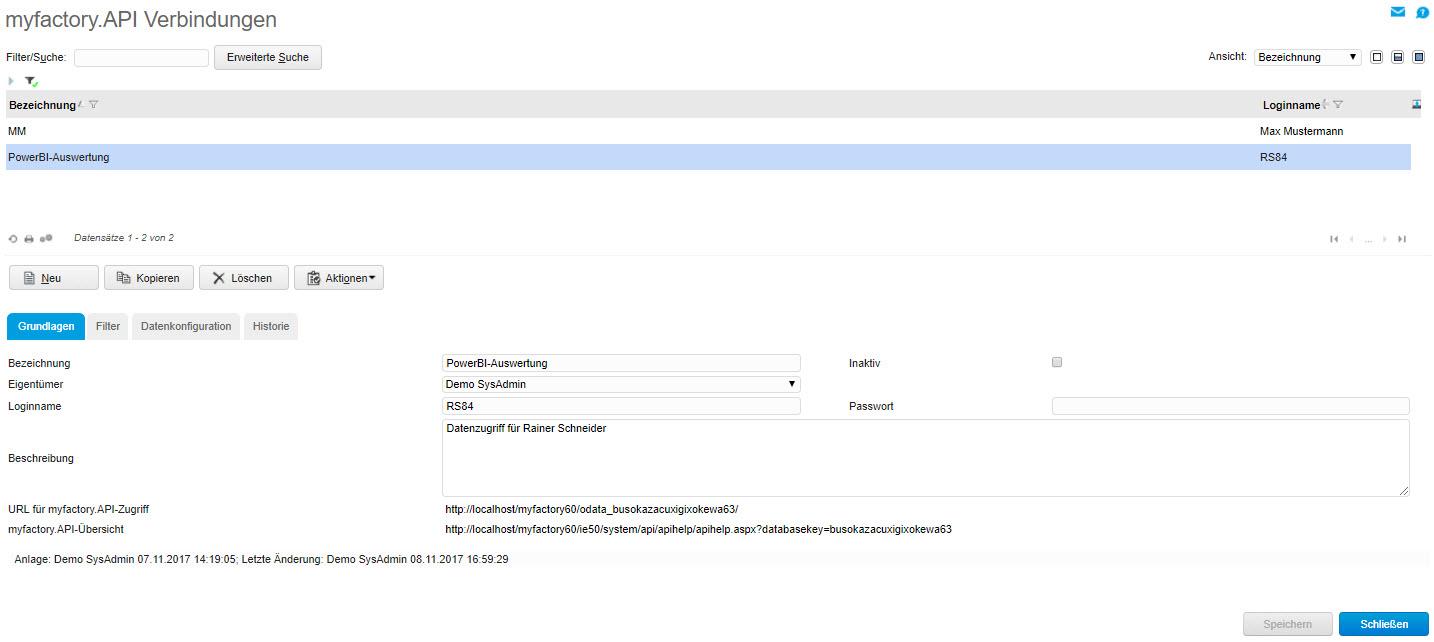 myfactory als Datenquelle: Die REST API für die Microsoft PowerBI-Auswertung nutzen 0
