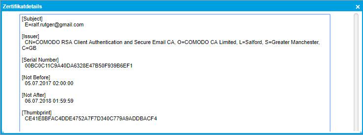 Zertifikate verwalten 3